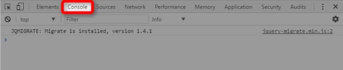 ChromeデベロッパーツールのConsoleタブ