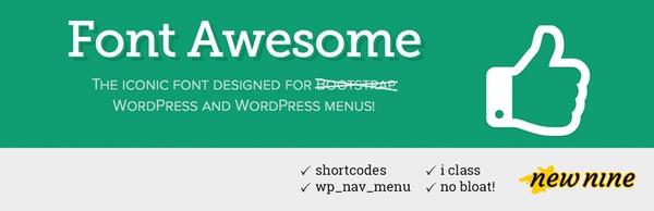 WordPressプラグイン「Font Awesome 4 Menus」