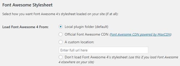 「Font Awesome 4 Menus」の設定解説1